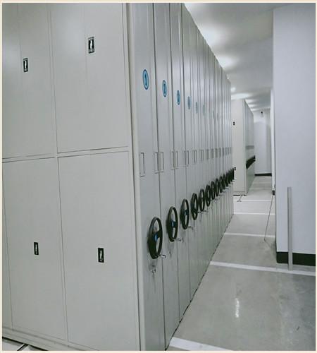 山南档案室电动密集架维护